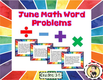 June Math Word Problems