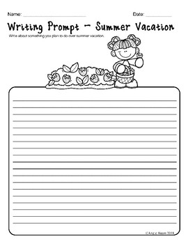 June Math and Literacy Printables for Upper Elementary