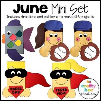 June Mini Set {Rainbow Fish, Super Mom and Dad, & Baseball Kids}