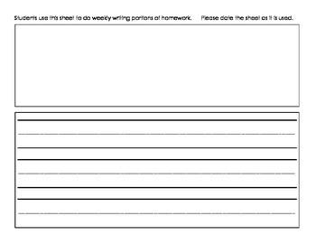 June Mon.-Thur. Editable Common Core Kindergarten 4 Week Homework Calendar