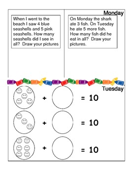 June Monthly Homework for Kindergarten