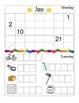 June Monthly Homework for Kindergarten