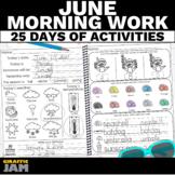 June Morning Work   Morning Work Review Packet for Kinderg
