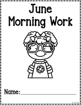 Morning Work for Kindergarten - June