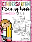 June Morning Work for Kindergarten