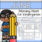 June Morning Work for Kindergarten {Common Core Aligned}