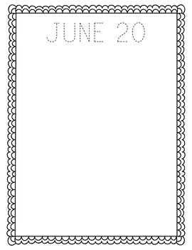 June NO PREP Journal Pages (Early Childhood)