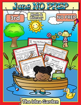 June NO PREP - Math & Literacy (Third)