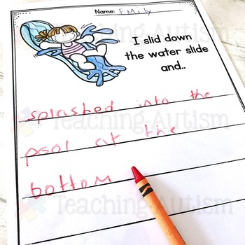 June No Prep Writing Prompt Worksheets