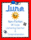 June Non Fiction: Inventions -Gum, Wheel, Donut (QR Listen & Comprehension)