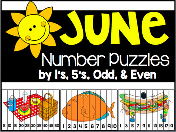 June Number Puzzles {45 Puzzles Included}