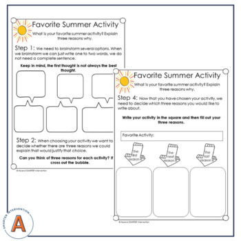 June Paragraph Writing - Graphic Organization Strategies