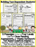 June Passages w/ CCSS Text Based Questions {Weekly Homework:Close Reading}
