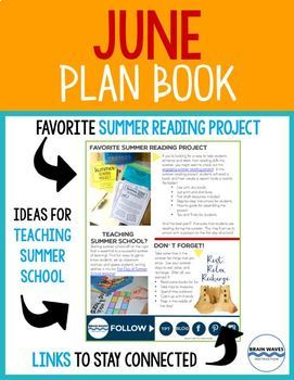 June Plan Book - Teaching Ideas and Tips for the entire month of June