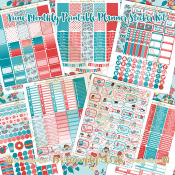 June Planner Stickers Kit