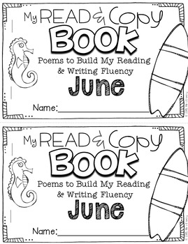 June Poems for Building Reading Fluency & Writing Stamina (K-1)