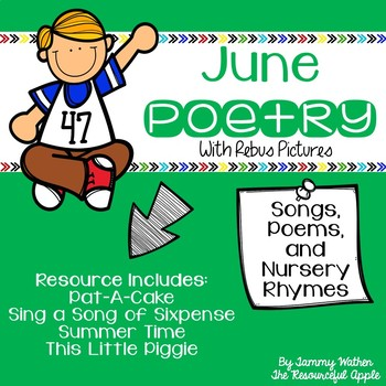 June Poetry with Rebus Pictures