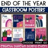 June Posters Bulletin Board Boho Rainbow Posters Spring Su