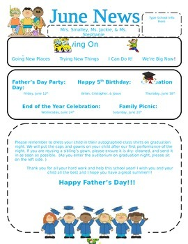 June Preschool Newsletter