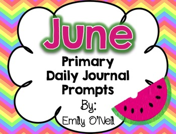 June Primary Daily Journal Prompts