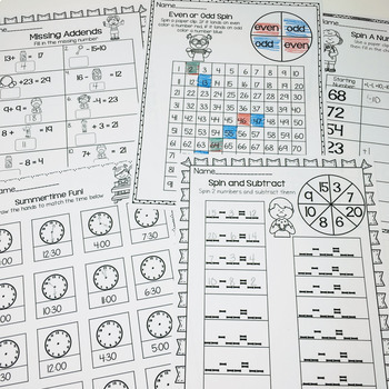 June Printables- Math and Literacy On The Go
