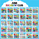 June Rainbow Club Clipart Bundle