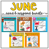 June: Reading Comprehension, Writing and Craftivities GROWING BUNDLE