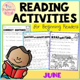 June Reading Activities for Beginning Readers