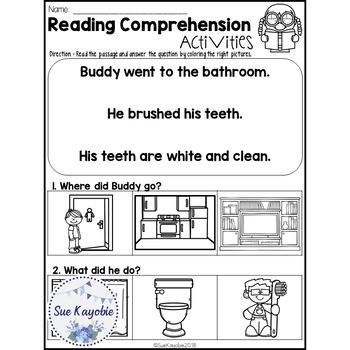 June Reading Comprehension Activities Freebies