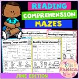 June Reading Comprehension Mazes