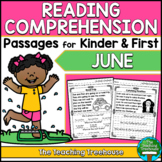 June Reading Comprehension Passages for Kindergarten and First Grade