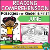 June Reading Comprehension Passages for Kindergarten and First Grade