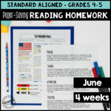 June Reading Homework for 4th & 5th PAPER-SAVING color tex