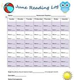June Reading Log