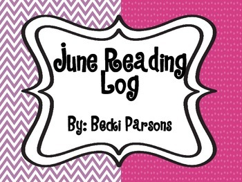 June Reading Log Calendar