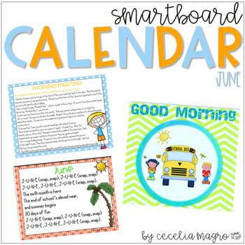 June SMARTBoard Calendar ***Common Core Aligned***