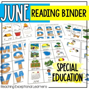 June SPED Adapted Reading Binder