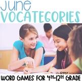 June Scattergories Games