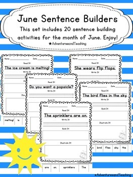 June Sentence Builders {morning work, word work, daily 5,