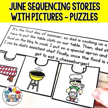 June Short Story Sequencing Jigsaws