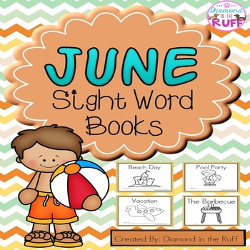 June Sight Word Books