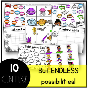 June Sight Word Centers Editable