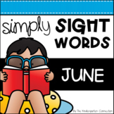 June Sight Word Games and Centers - Editable