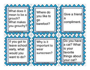 June Social Skills Conversational Questions