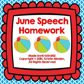 June Speech Homework