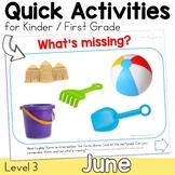 June Speech Therapy Activities for K - 1 Parent Friendly D