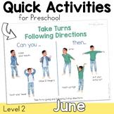 June Speech Therapy Activities for Preschool Parent Friend
