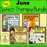 June Speech Therapy Themed Bundle