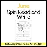June Spin Read and Write FREEBIE
