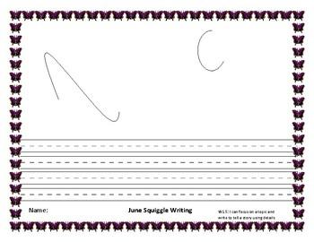 June Squiggle Writing Bundle